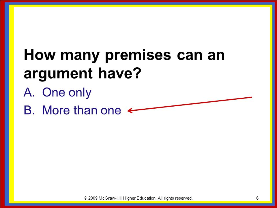 How many premises can an argument have