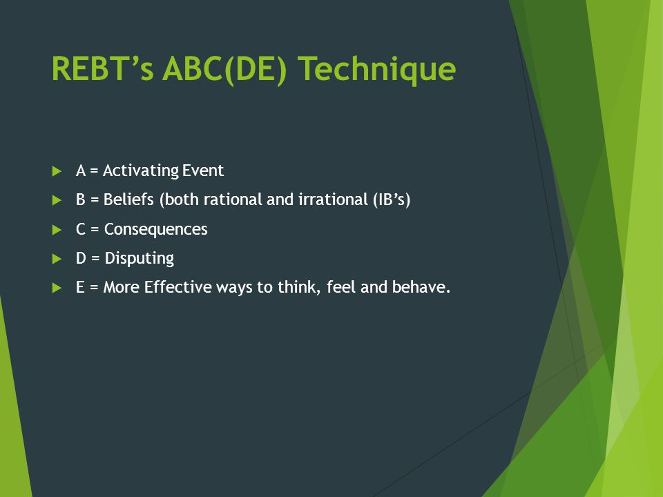 REBT's ABC(DE) Technique
