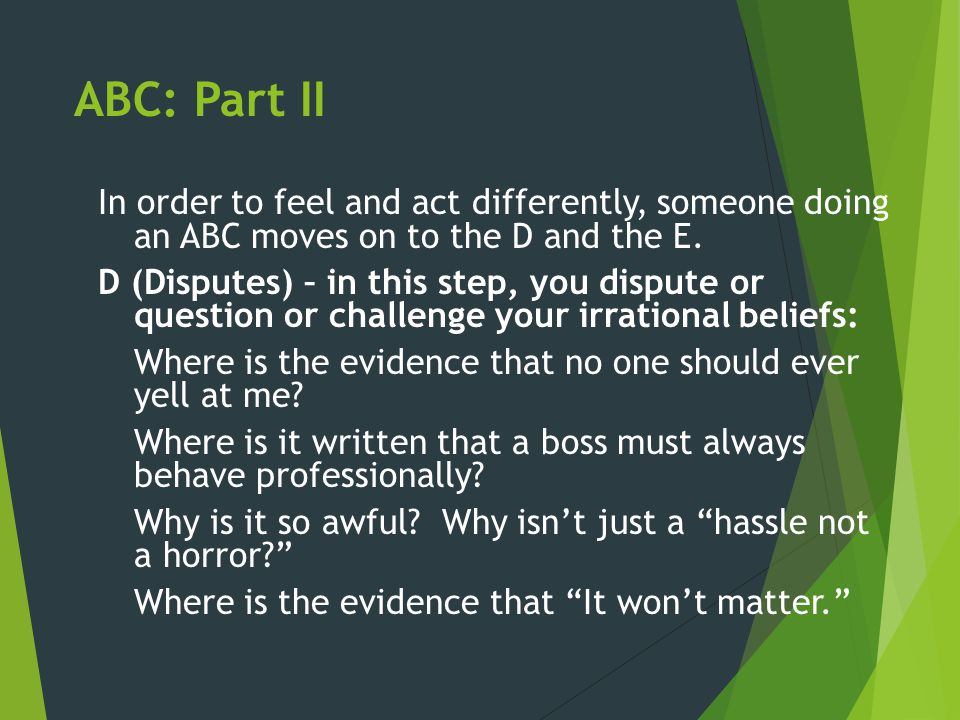 ABC: Part II