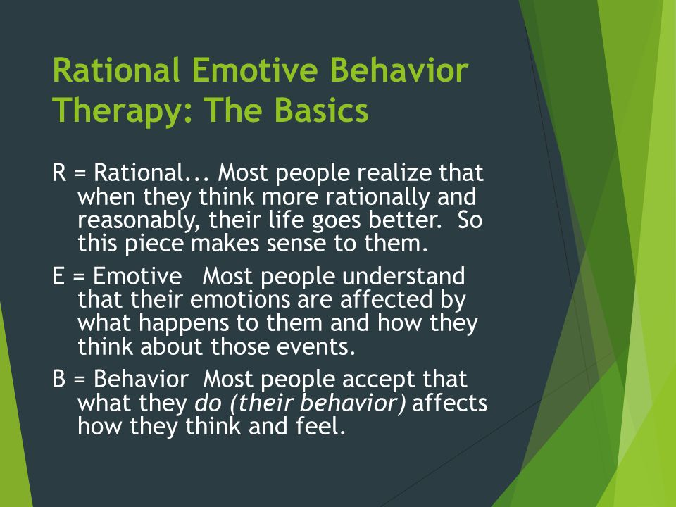 Rational Emotive Behavior Therapy: The Basics