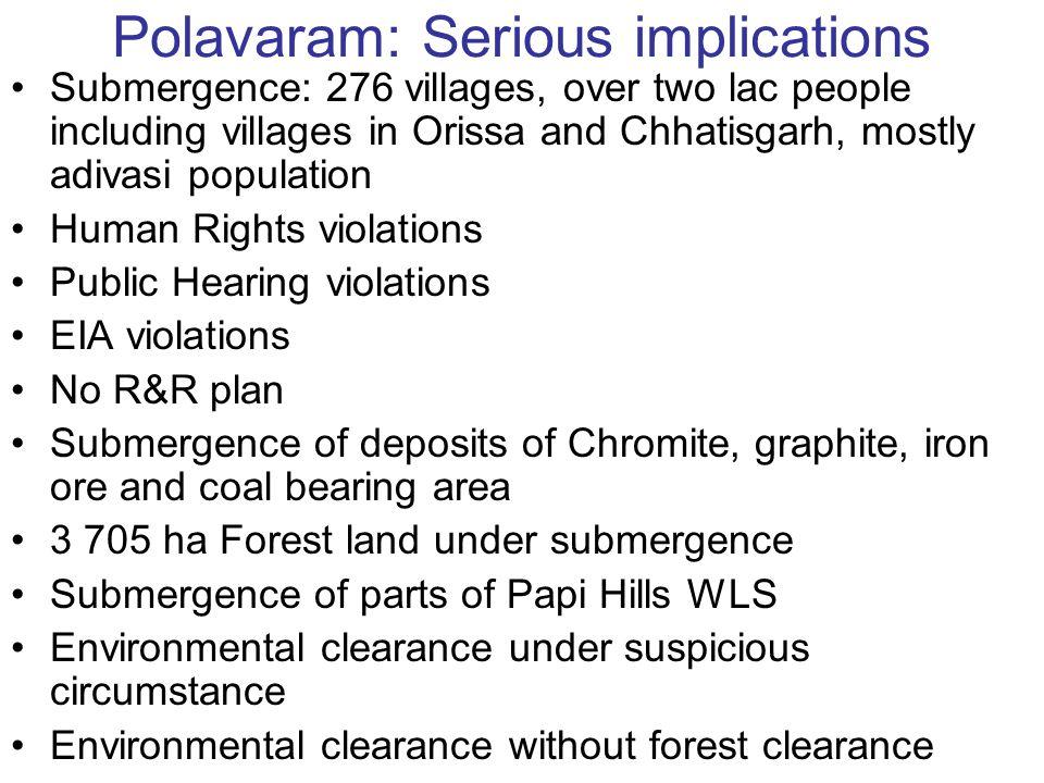 Polavaram: Serious implications
