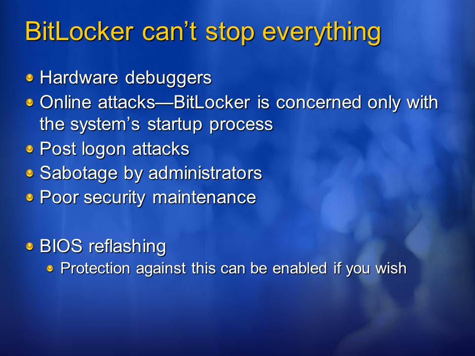 BitLocker can't stop everything