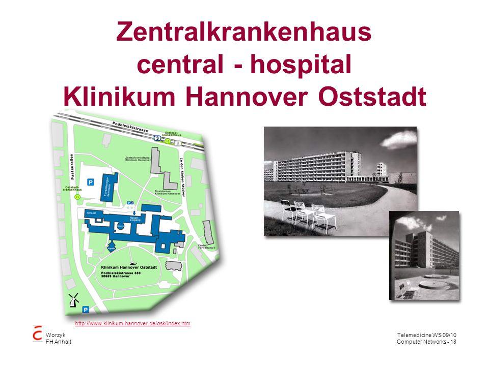 Zentralkrankenhaus central - hospital Klinikum Hannover Oststadt