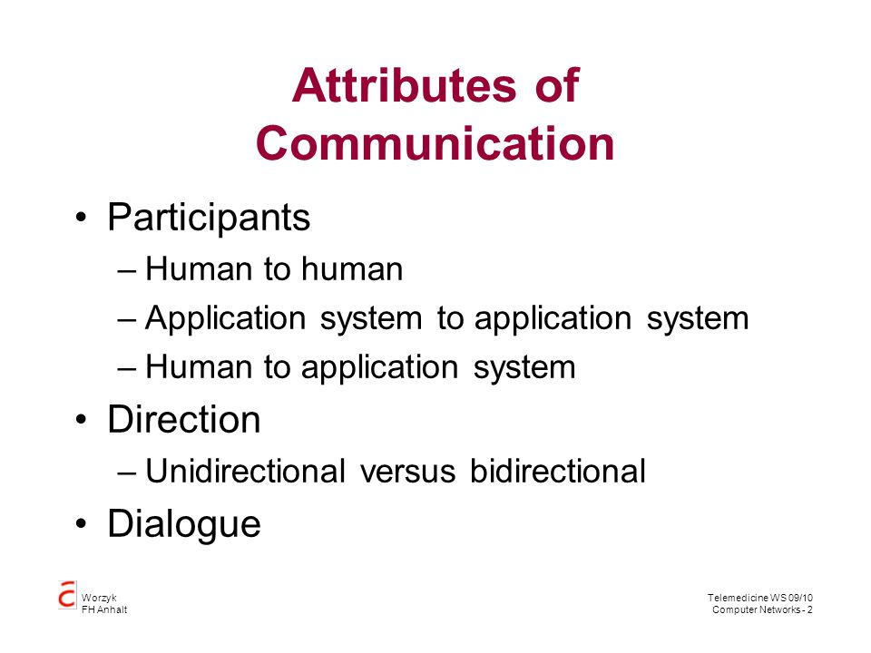 Attributes of Communication