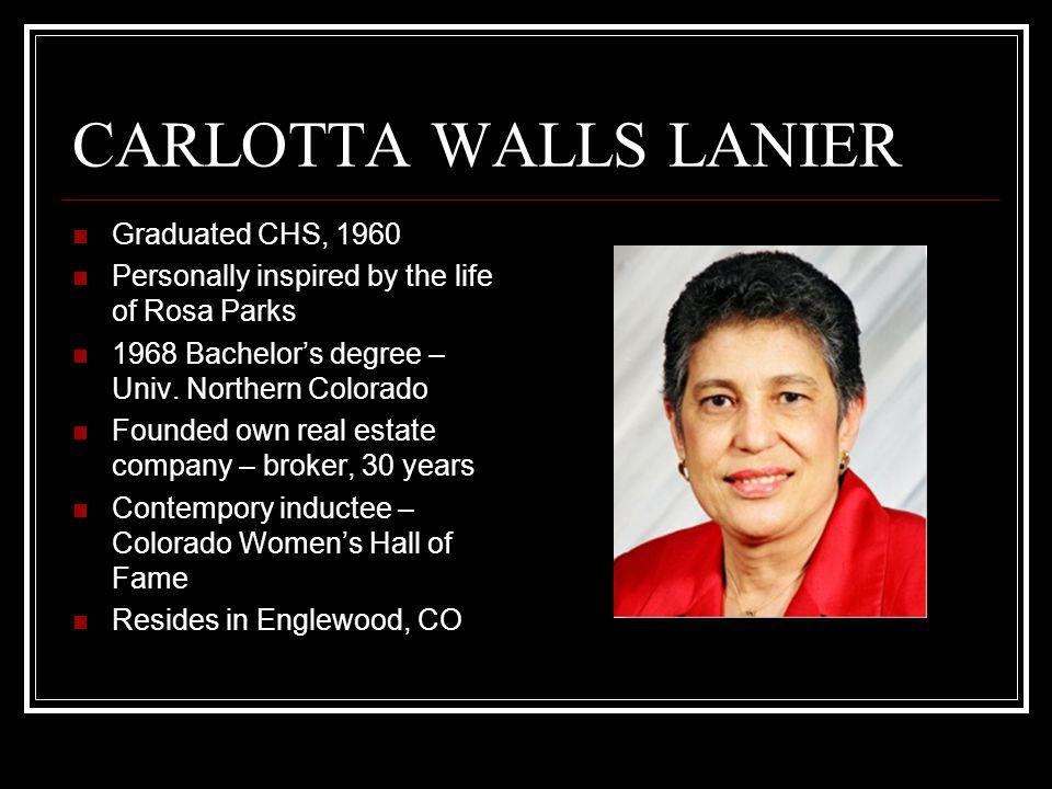 CARLOTTA WALLS LANIER Graduated CHS, 1960