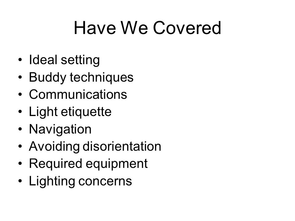 Have We Covered Ideal setting Buddy techniques Communications