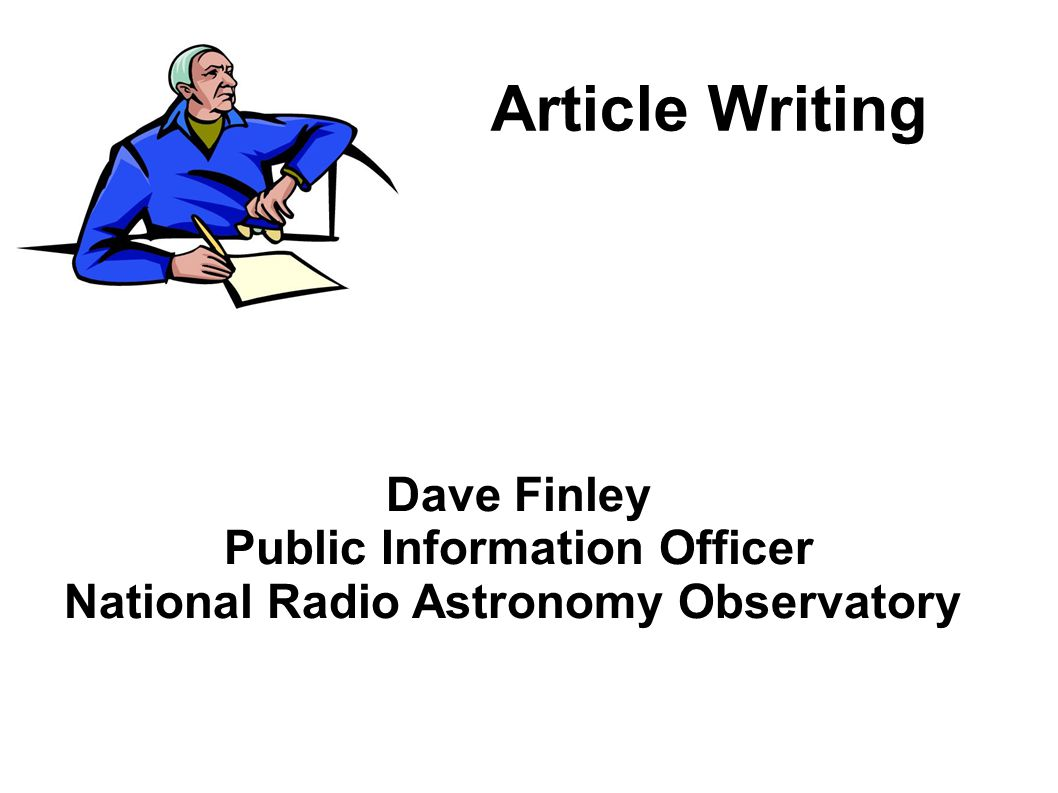 Public Information Officer National Radio Astronomy Observatory