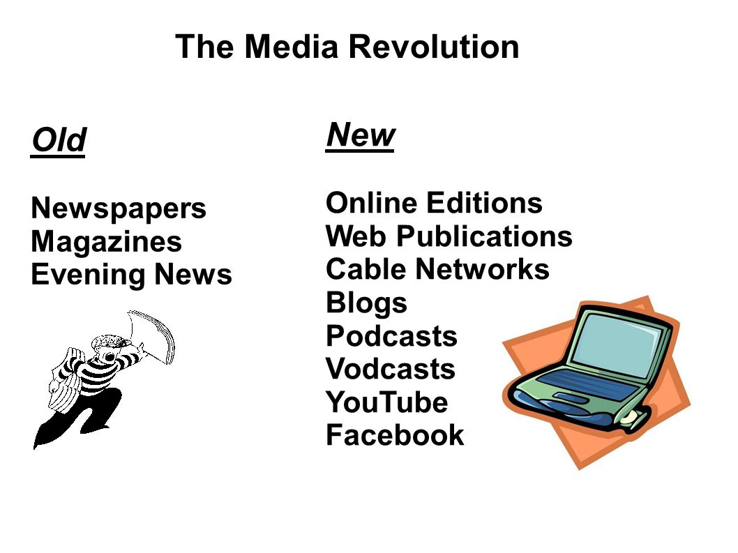 The Media Revolution New Old Online Editions Newspapers