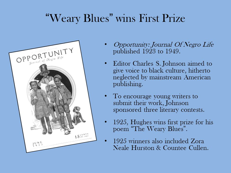 Weary Blues wins First Prize