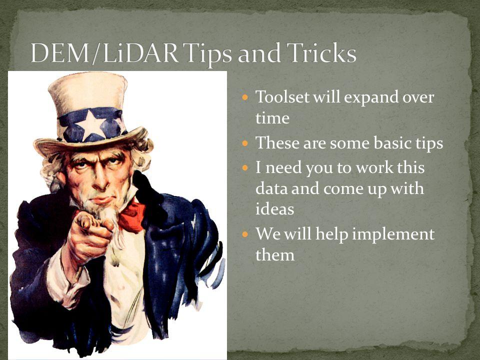 DEM/LiDAR Tips and Tricks