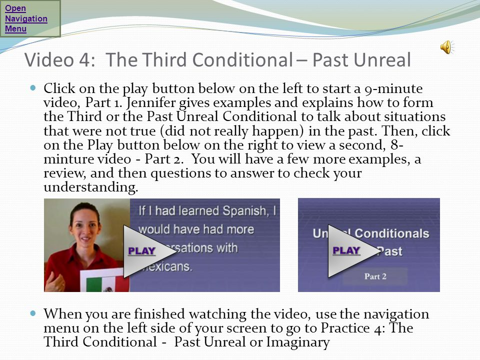 Video 4: The Third Conditional – Past Unreal