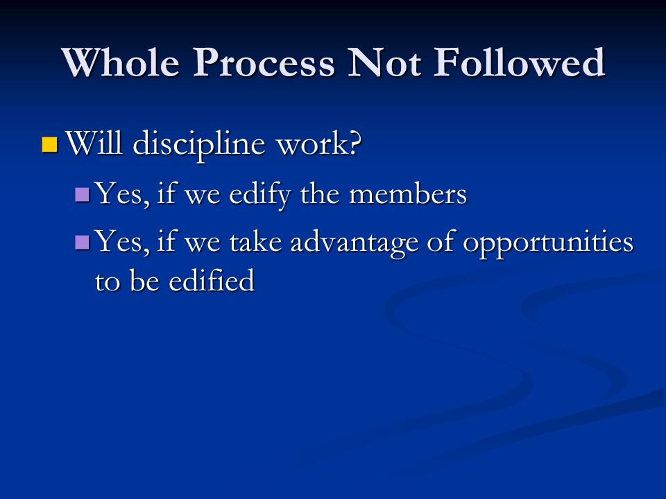 Whole Process Not Followed