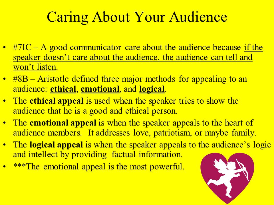 Caring About Your Audience