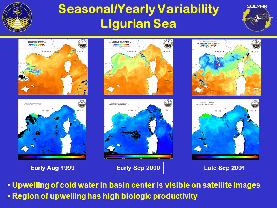 Seasonal/Yearly Variability Ligurian Sea