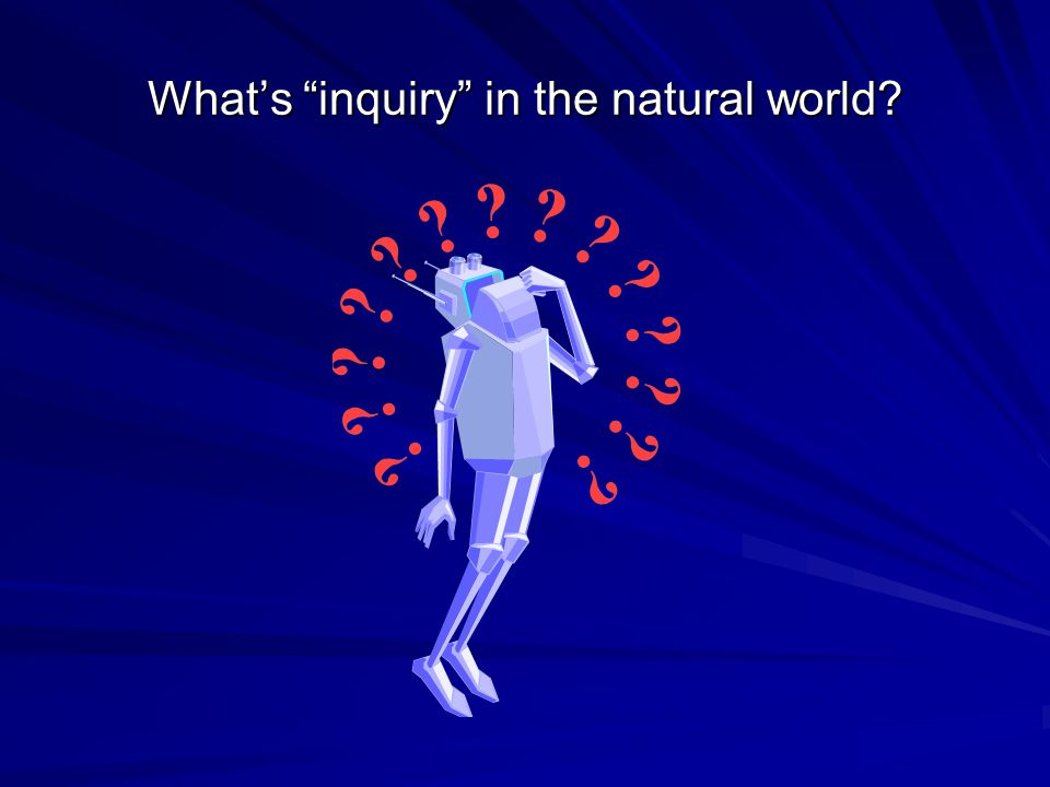 What's inquiry in the natural world