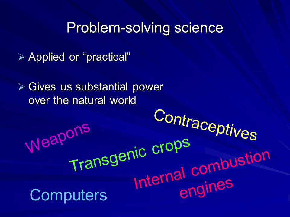 Problem-solving science
