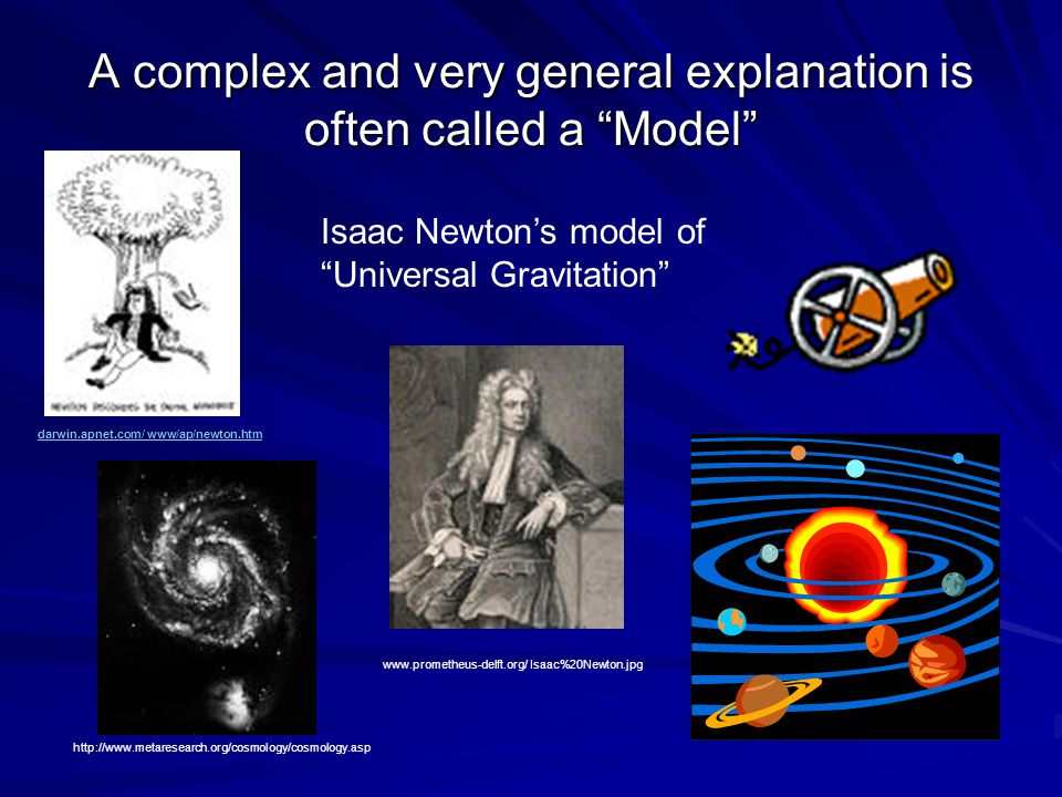 A complex and very general explanation is often called a Model