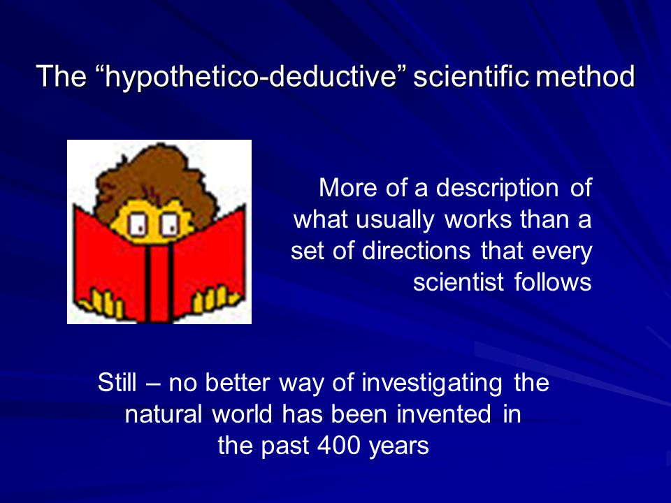 The hypothetico-deductive scientific method