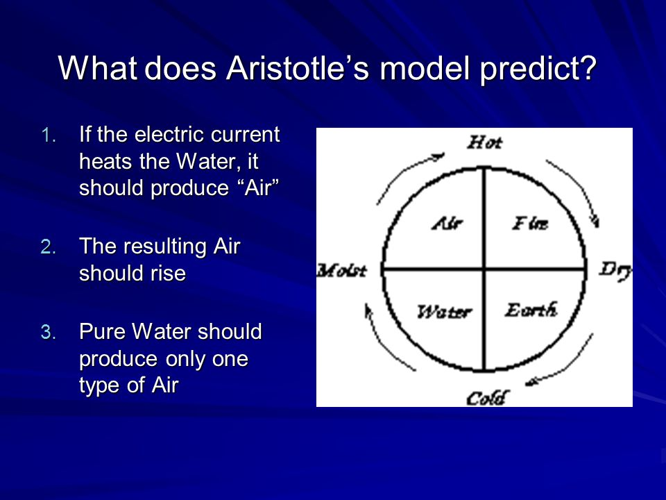 What does Aristotle's model predict