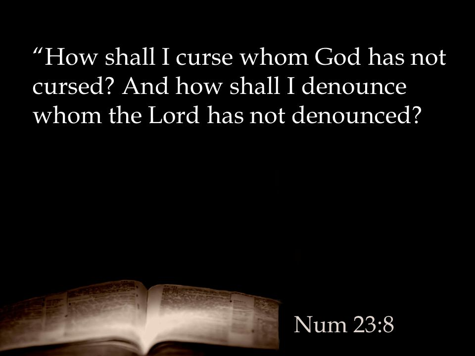 How shall I curse whom God has not cursed