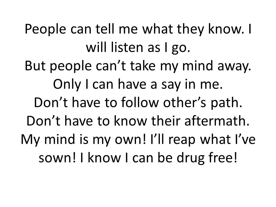 People can tell me what they know. I will listen as I go