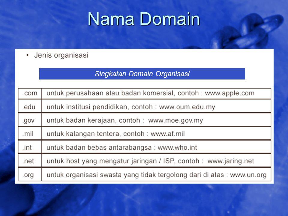 Singkatan Domain Organisasi