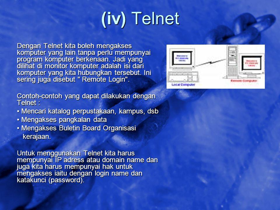 (iv) Telnet