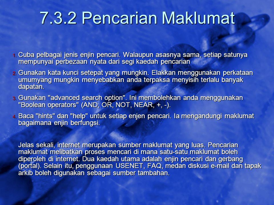 7.3.2 Pencarian Maklumat