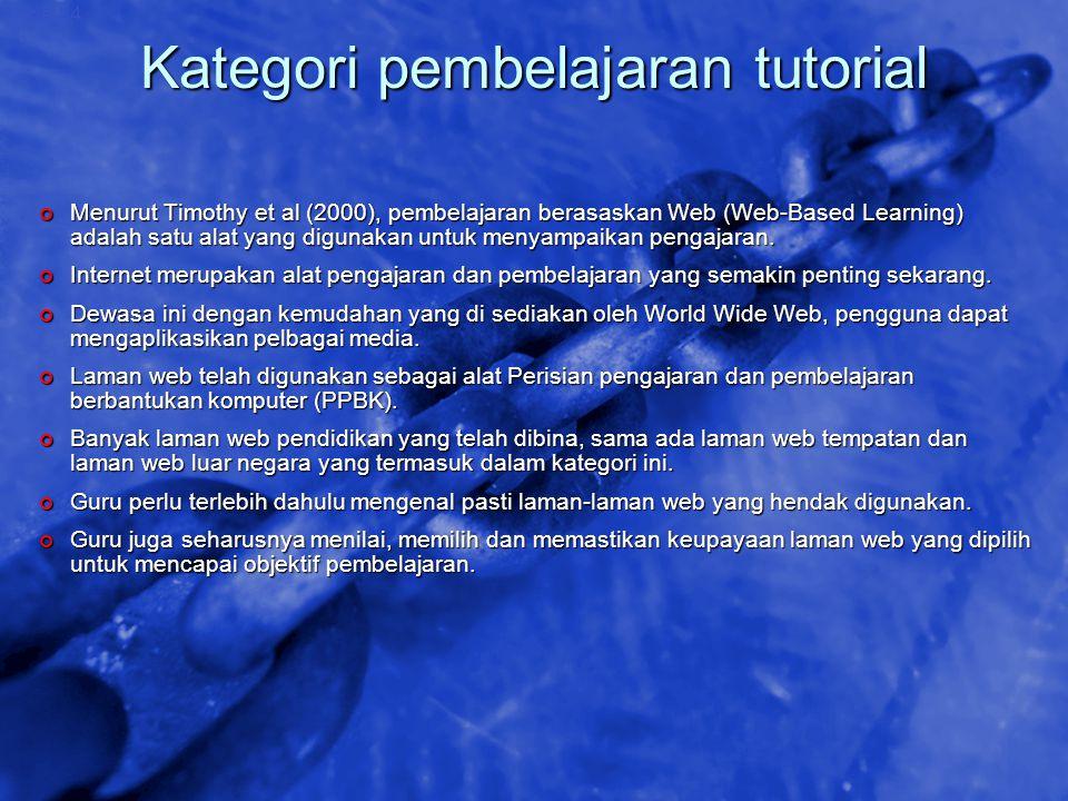 Kategori pembelajaran tutorial