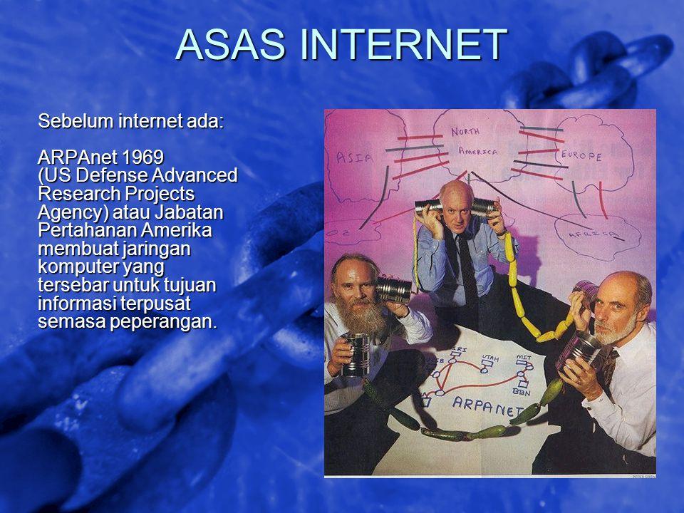 ASAS INTERNET Sebelum internet ada: ARPAnet 1969