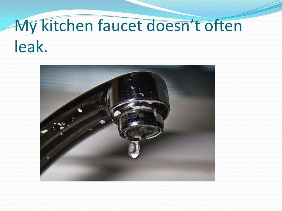 My kitchen faucet doesn't often leak.