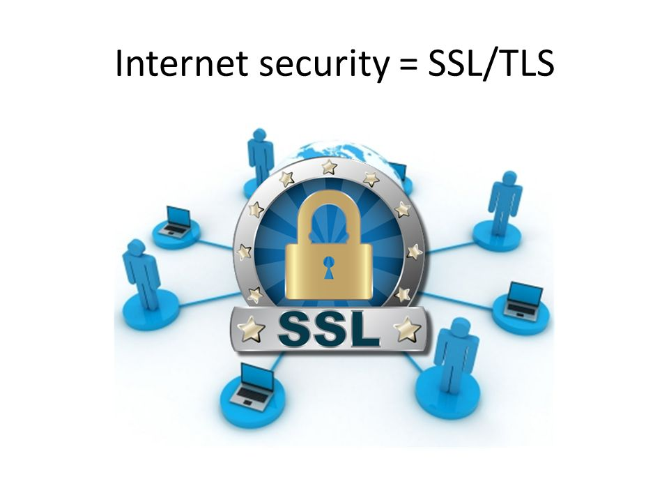 Internet security = SSL/TLS