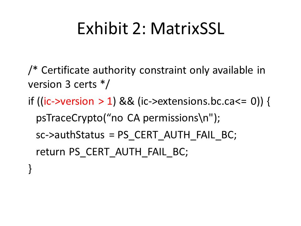 Exhibit 2: MatrixSSL