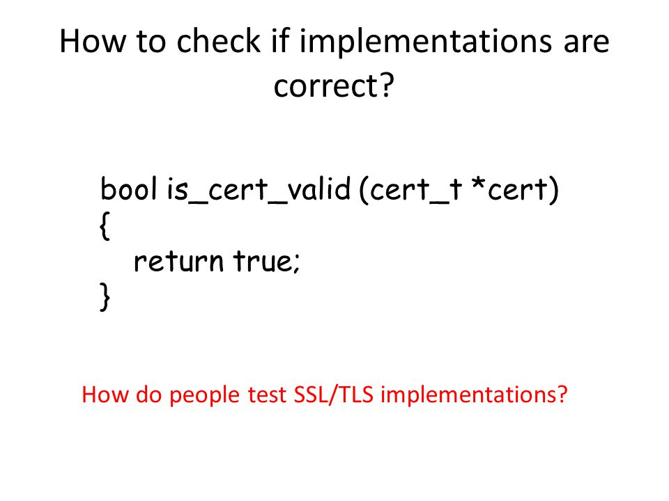 How to check if implementations are correct