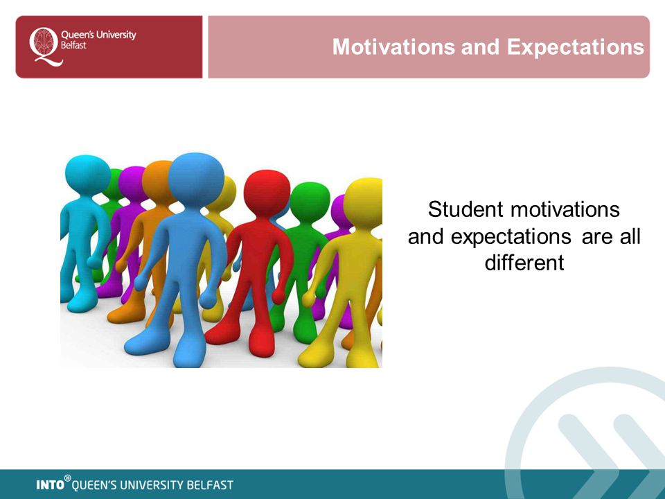 Student motivations and expectations are all different