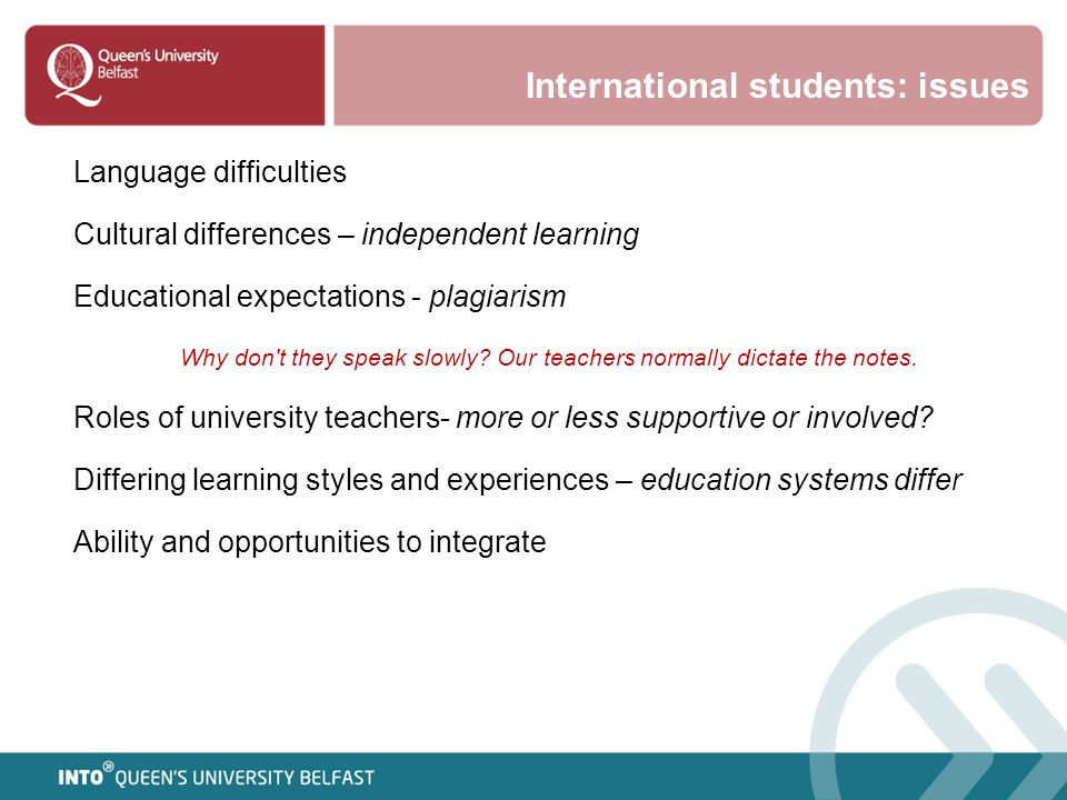 International students: issues