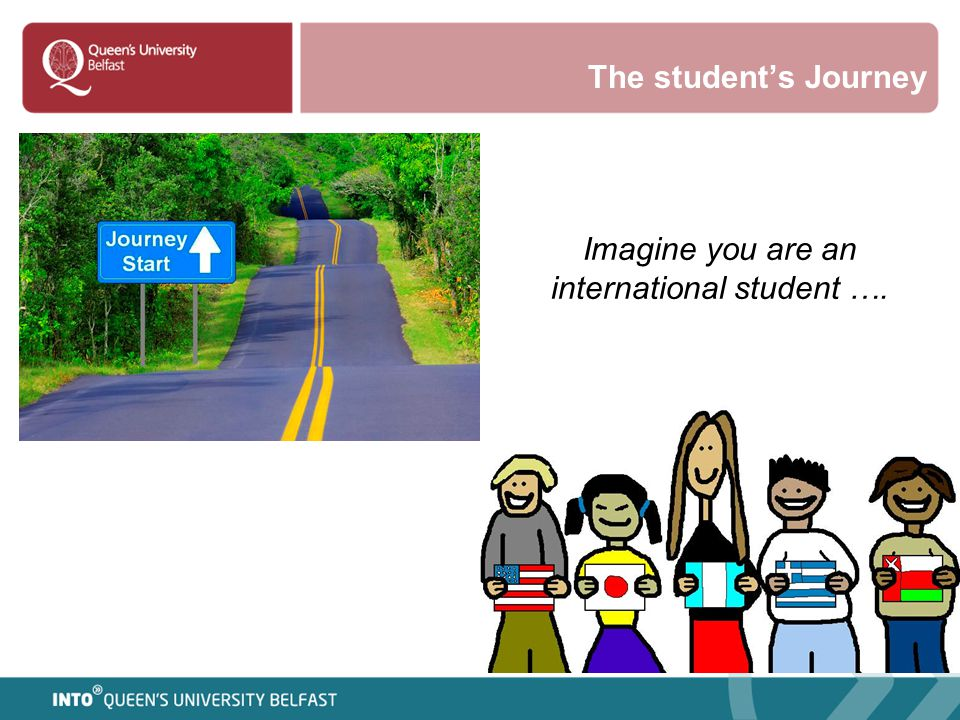 Imagine you are an international student ….