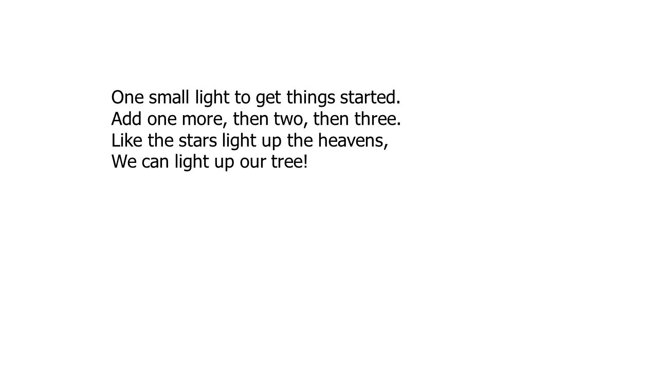 One small light to get things started.