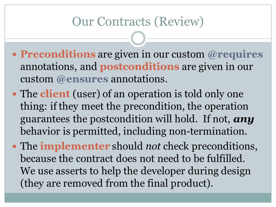 Our Contracts (Review)