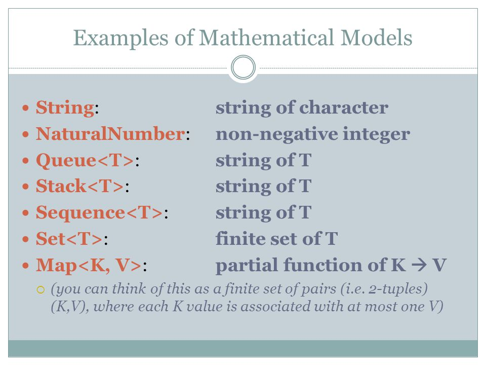 Examples of Mathematical Models