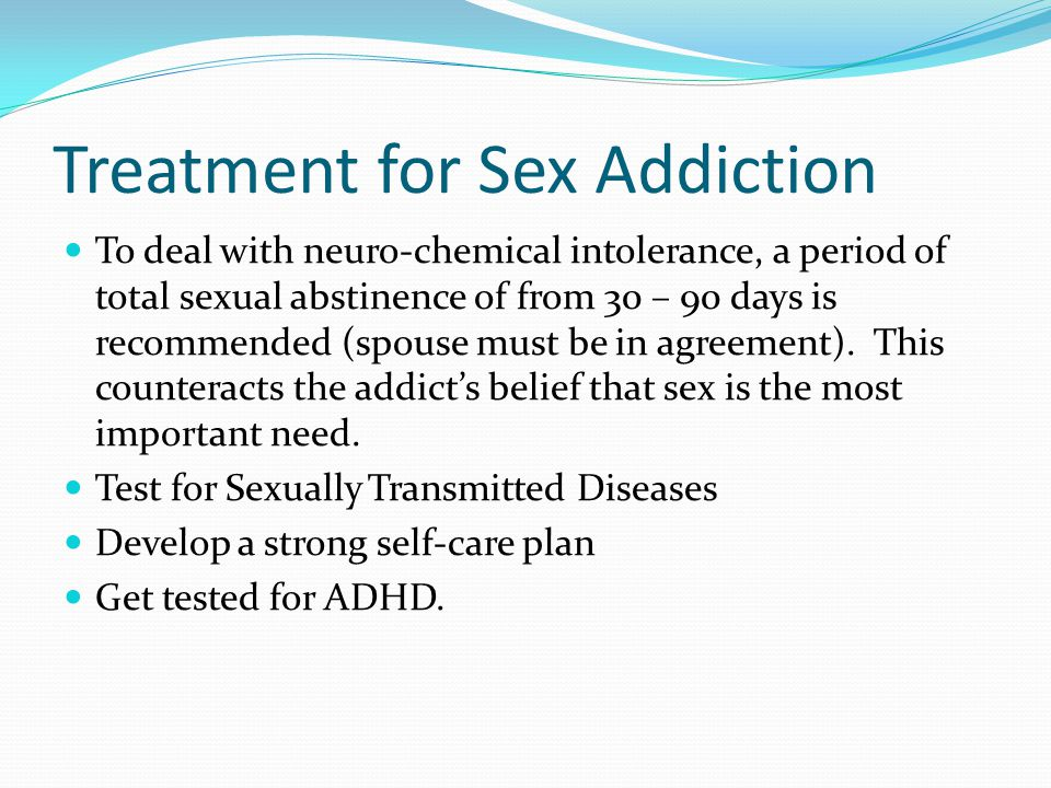 Treatment for Sex Addiction
