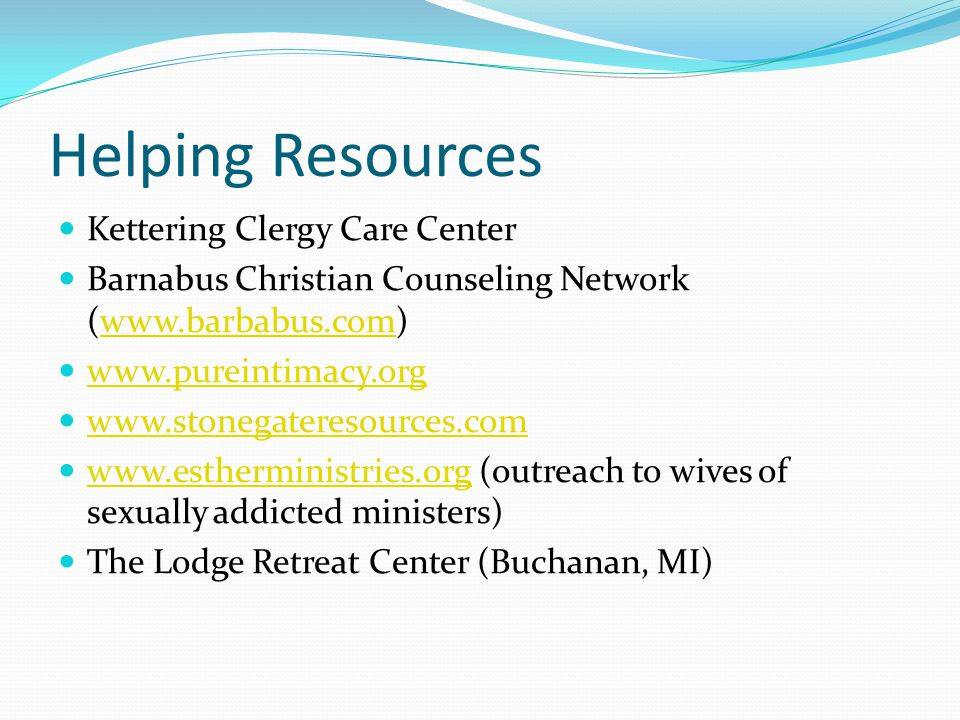 Helping Resources Kettering Clergy Care Center