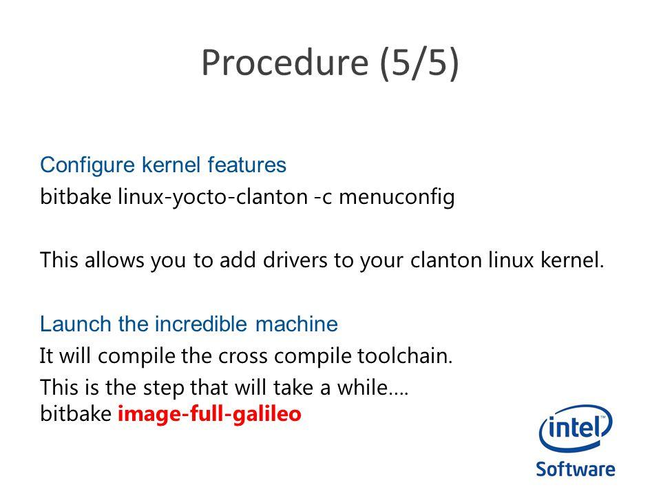 Procedure (5/5)