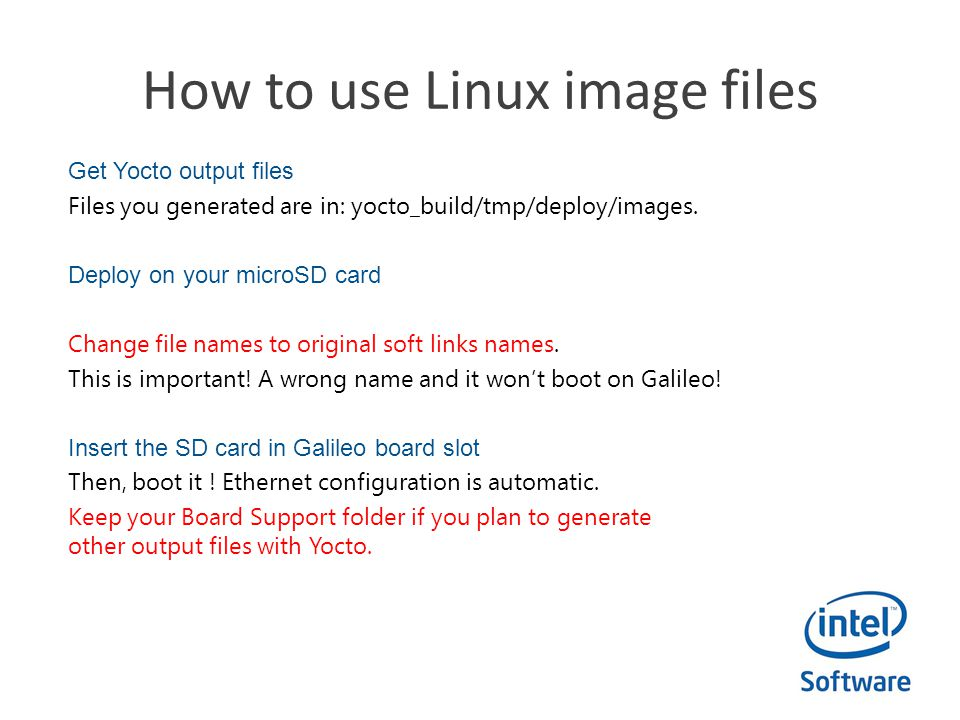 How to use Linux image files