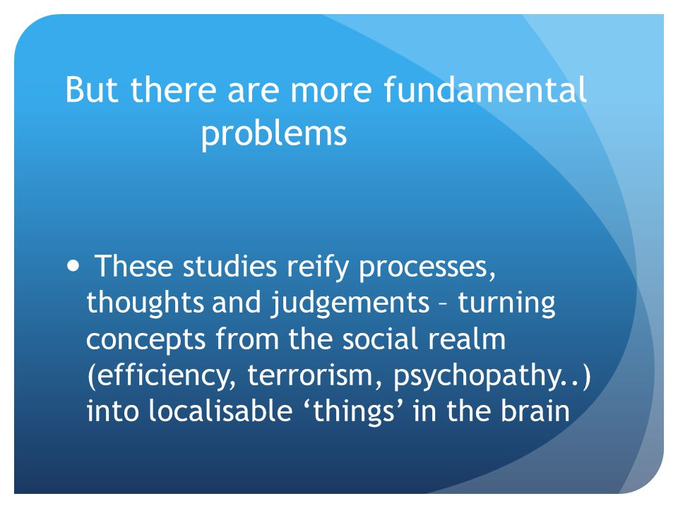 But there are more fundamental problems
