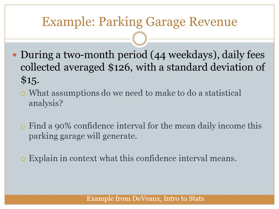Example: Parking Garage Revenue
