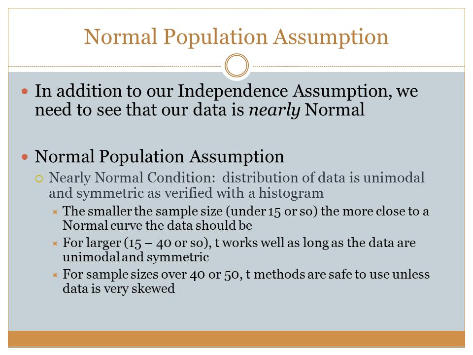 Normal Population Assumption