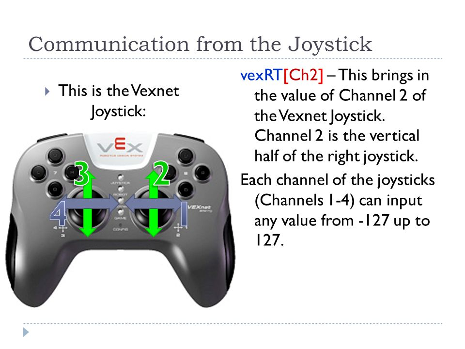 Communication from the Joystick