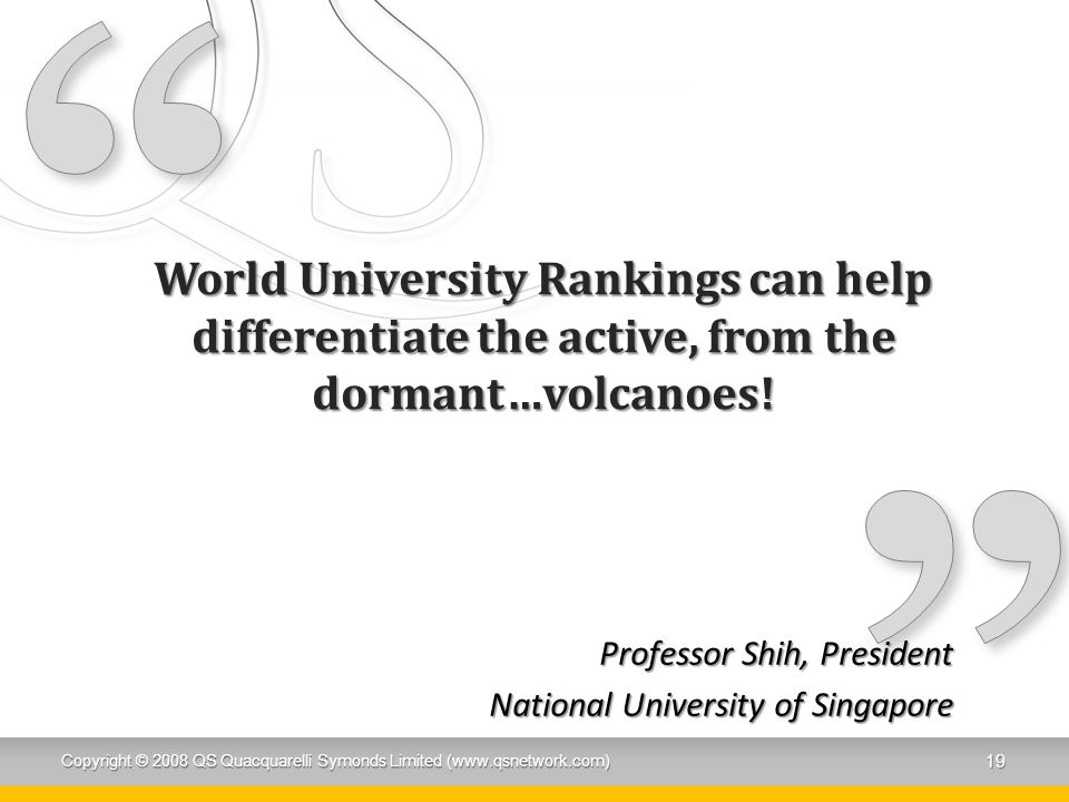 Professor Shih, President National University of Singapore