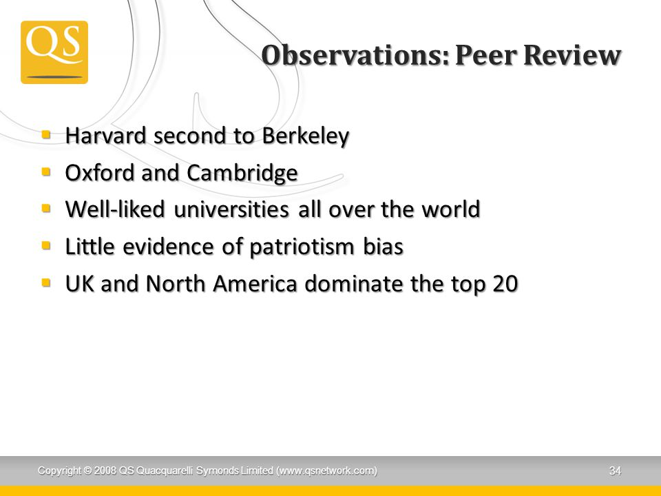 Observations: Peer Review